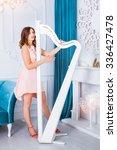 pretty elegant young woman... | Shutterstock . vector #336427478