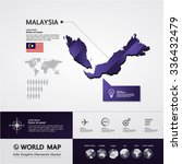 malaysia map | Shutterstock .eps vector #336432479