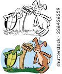 Stock vector the tortoise and the hare 336436259