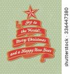 christmas tree | Shutterstock .eps vector #336447380