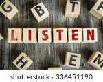 Small photo of Wooden Blocks with the text: Listen
