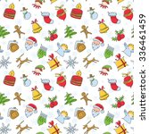 minimalistic colorful christmas ... | Shutterstock .eps vector #336461459