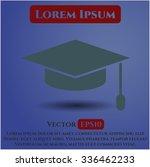 graduation cap vector icon   Shutterstock .eps vector #336462233