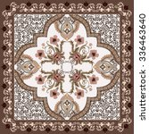 bandanna with flowers  in...   Shutterstock .eps vector #336463640