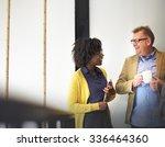 business team coffee break... | Shutterstock . vector #336464360