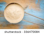 metal measuring scoop of... | Shutterstock . vector #336470084