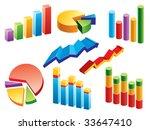 business charts | Shutterstock .eps vector #33647410
