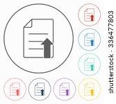 file upload icon | Shutterstock .eps vector #336477803