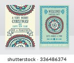 template for christmas party... | Shutterstock .eps vector #336486374