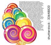 border of lollipops. | Shutterstock .eps vector #33648820