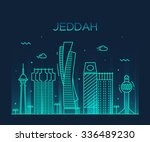 jeddah skyline  detailed... | Shutterstock .eps vector #336489230