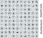 seo 100 icons universal set for ... | Shutterstock .eps vector #336492104