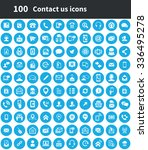 contact us 100 icons universal... | Shutterstock .eps vector #336495278