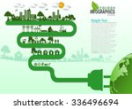 abstract ecology connection...   Shutterstock .eps vector #336496694