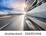 car driving on road in city... | Shutterstock . vector #336501446