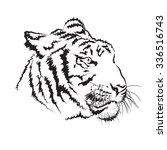 tiger head | Shutterstock .eps vector #336516743