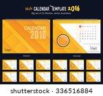 desk calendar 2016 vector... | Shutterstock .eps vector #336516884