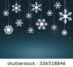 White Snow Flakes Hanging On...