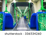 Small photo of Melbourne, Australia - November 3, 2015: Interior of a C-class Citadis articulated tram, operated by Yarra Trams. The Citadis trams were manufactured by Alstom in France.