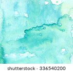 hand painted watercolor... | Shutterstock . vector #336540200