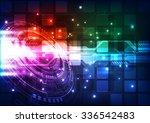 abstract futuristic digital... | Shutterstock .eps vector #336542483