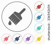 paintbrush icon | Shutterstock .eps vector #336542654