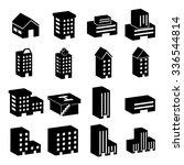 building icon set | Shutterstock .eps vector #336544814