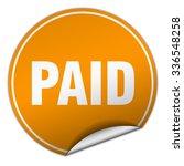 paid round orange sticker... | Shutterstock .eps vector #336548258