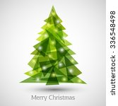 Abstract Christmas Tree Made O...