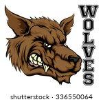 an illustration of a wolf... | Shutterstock . vector #336550064