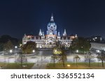 Stock photo new city hall of hannover germany 336552134