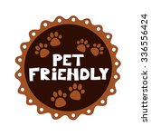 Pet Friendly Vector Badge