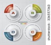 simple editable 4 steps chart... | Shutterstock .eps vector #336557363