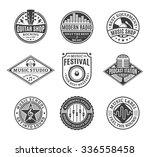 set of vector music logo. music ... | Shutterstock .eps vector #336558458