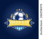 soccer football club logo... | Shutterstock .eps vector #336558470