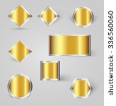 collection of shiny silver ... | Shutterstock .eps vector #336560060