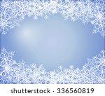 simple blue winter background... | Shutterstock .eps vector #336560819
