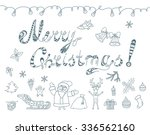 set of  christmas doodles ... | Shutterstock .eps vector #336562160