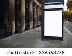 blank billboard with copy space ... | Shutterstock . vector #336563738