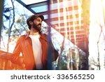 portrait of a smiling handsome... | Shutterstock . vector #336565250