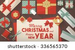 preparing for christmas and... | Shutterstock .eps vector #336565370