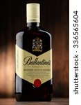 Small photo of POZNAN, POLAND - NOVEMBER 4, 2015: Ballantine's is the world's second highest selling scotch whisky, produced by Pernod Ricard in Dumbarton, Scotland