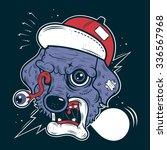 dog survive  street art... | Shutterstock .eps vector #336567968