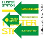 muster station marine safety... | Shutterstock .eps vector #336572408