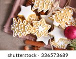 cookies with spices and... | Shutterstock . vector #336573689