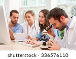 view of a medical team working... | Shutterstock . vector #336576110