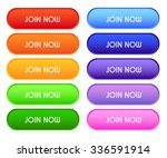 collection of 'join now' buttons | Shutterstock .eps vector #336591914