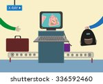 airport baggage security... | Shutterstock .eps vector #336592460