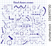 hand drawn arrows for your... | Shutterstock .eps vector #336595730