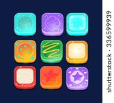 set of square lollipop icons....